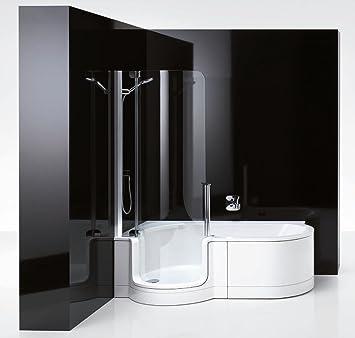 Duschbadewanne twinline  Artweger Twinline 1 Dusch Badewanne 180 mit Türe links Schürze ...