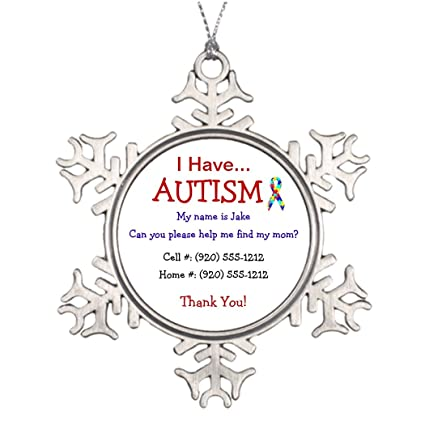 trend tim autism missing child personalised christmas tree decoration