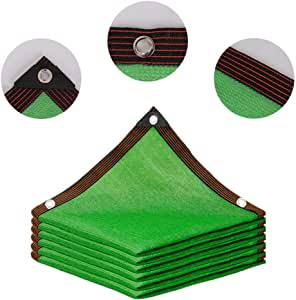 HLMBQ Malla de sombreo Verde,Malla de Ocultación,90% de ocultación,4 x 10 m,Resistente a los Rayos UV/Transpirable,Planta balcón Red de Jardín Piscina terraza: Amazon.es: Hogar