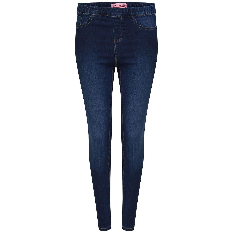 66cf62ba272c2 DELUXE EDITION Girls Stylish Light & Dark Wash Stretched Skinny Jeggings 5-13  Years: Amazon.co.uk: Clothing