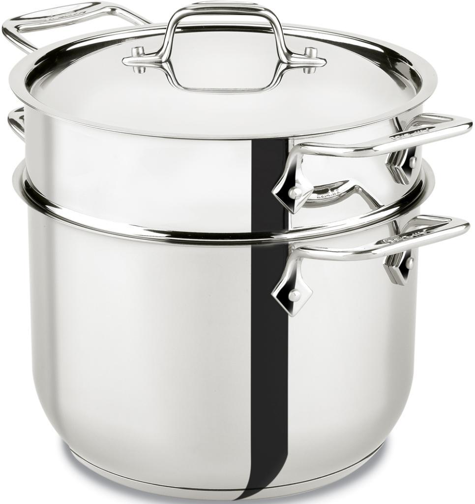 All Clad E414s6 Stainless Steel Pasta Pot And
