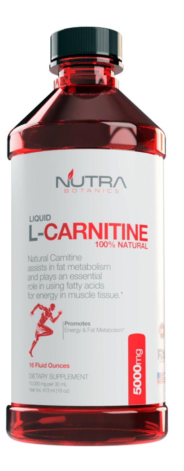 Nutra Botanics High Strength Liquid L-Carnitine 5000 Mg, 16 Oz (473 ML) by Nutra Botanics