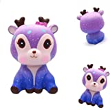 Hirsrian Squeeze Toy, Galaxy Cute Deer Cream Scented Slow Rising Squishy Squeeze Strap Decompression Toy Gift Stress Reliever