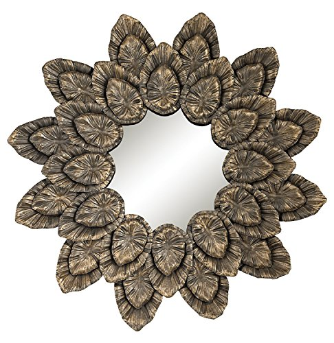 Metallic Petal Sourround Mirror - ornate metallic wall decor