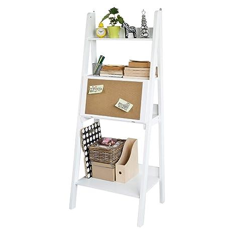 SoBuy® Mesa de Ordenador con Estante Integrado, Estantería librerias, Estantería de diseño,