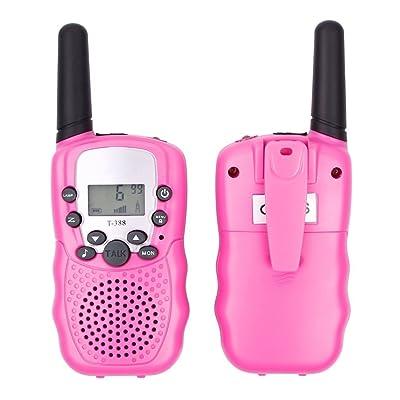 Talkies Walkies Enfant ,TKSTAR talkie-walkie avec écran LCD rétro-éclairé,Mini torche LED intégrée,Portée jusqu'à 5 milles,Idéal pour les supermarchés, les