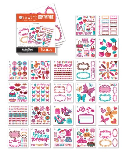 CREATIVE IMAGINATIONS Flirt Swatch Book Impress-Ons ()