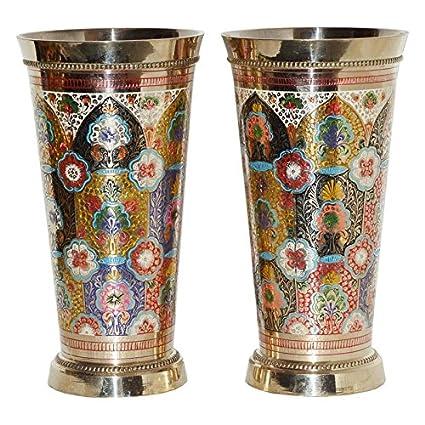 Amazon Com Shrinath Handicrafts Brass Big Size Lassi Glass Indian