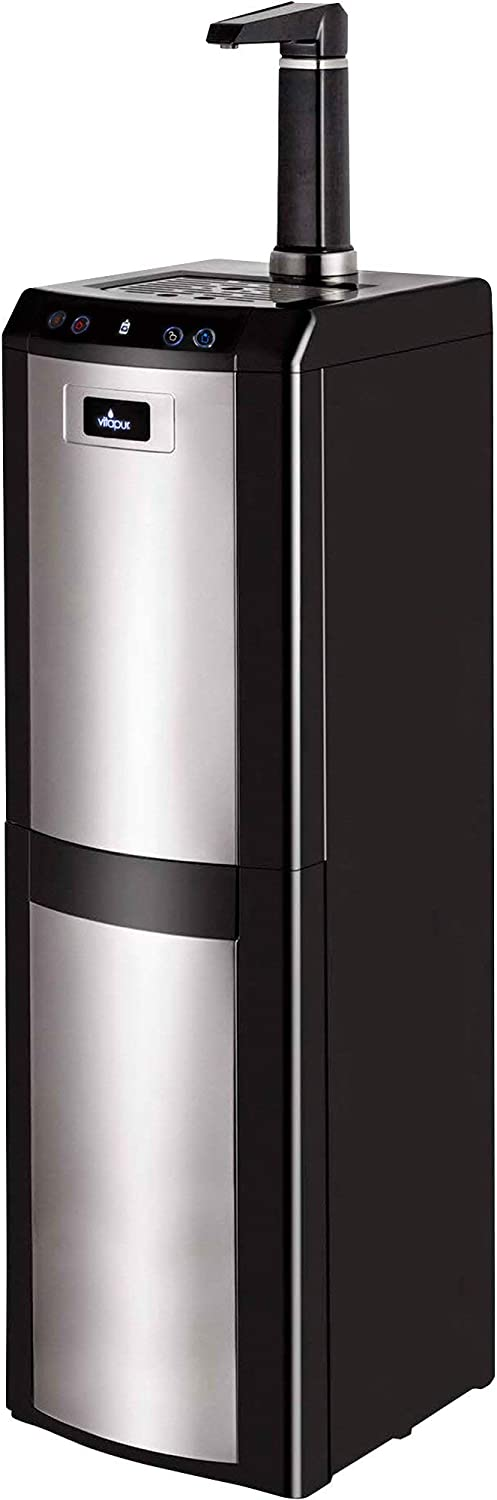 Vitapur VWD1076BLST Bottom Load (Hot, Room and Cold) Black/Stainless Steel Water Dispenser, one size