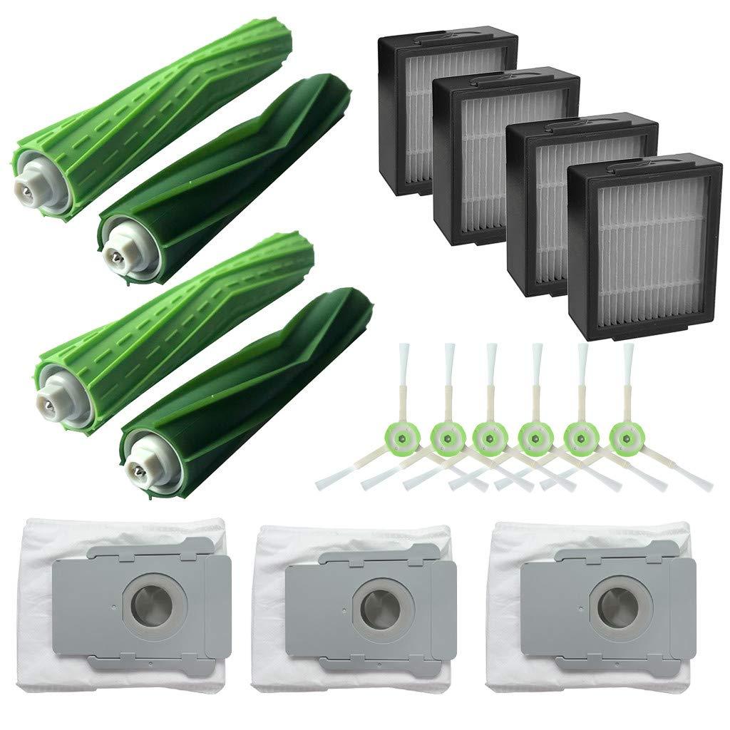 IOTdou Main Brush&Hepa Filters& Dirt Disposal Bags for iRobot Roomba i7 i7+/i7 Plus E5 Vacuum Cleaner Accessories