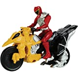 Power Rangers Dino Charge - Moto de transformacion, color rojo (Bandai 42071)