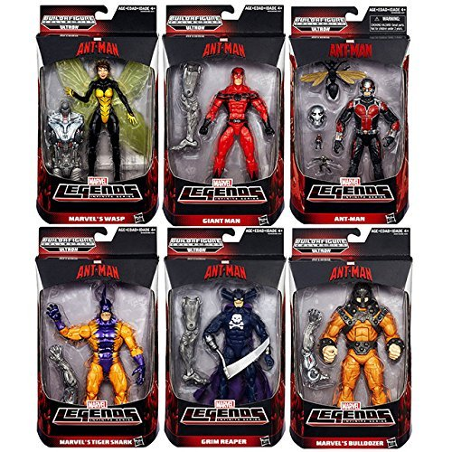 Hasbro Marvel Legends 6 inches figures Urutoron Series 6 Set of (Ant-Man & Wasp & Giant Man & Bulldozer & Tiger Shark & ??Grimm Reaper) / Hasbro ANT-MAN MARVEL LEGENDS [domestic regular version]