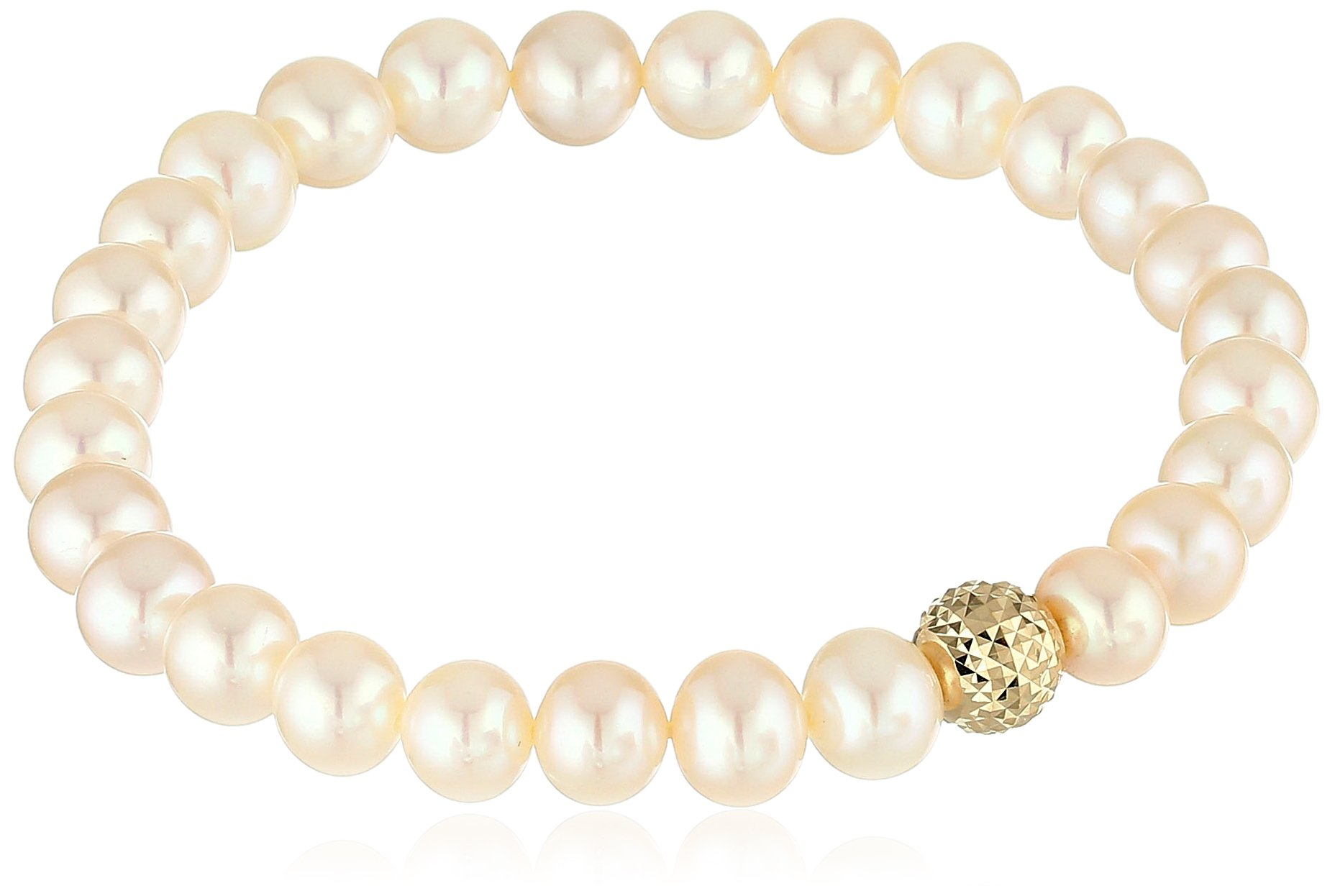 Honora 14k Yellow Gold 7-8mm Freshwater Cultured Pearl Stretch Bracelet