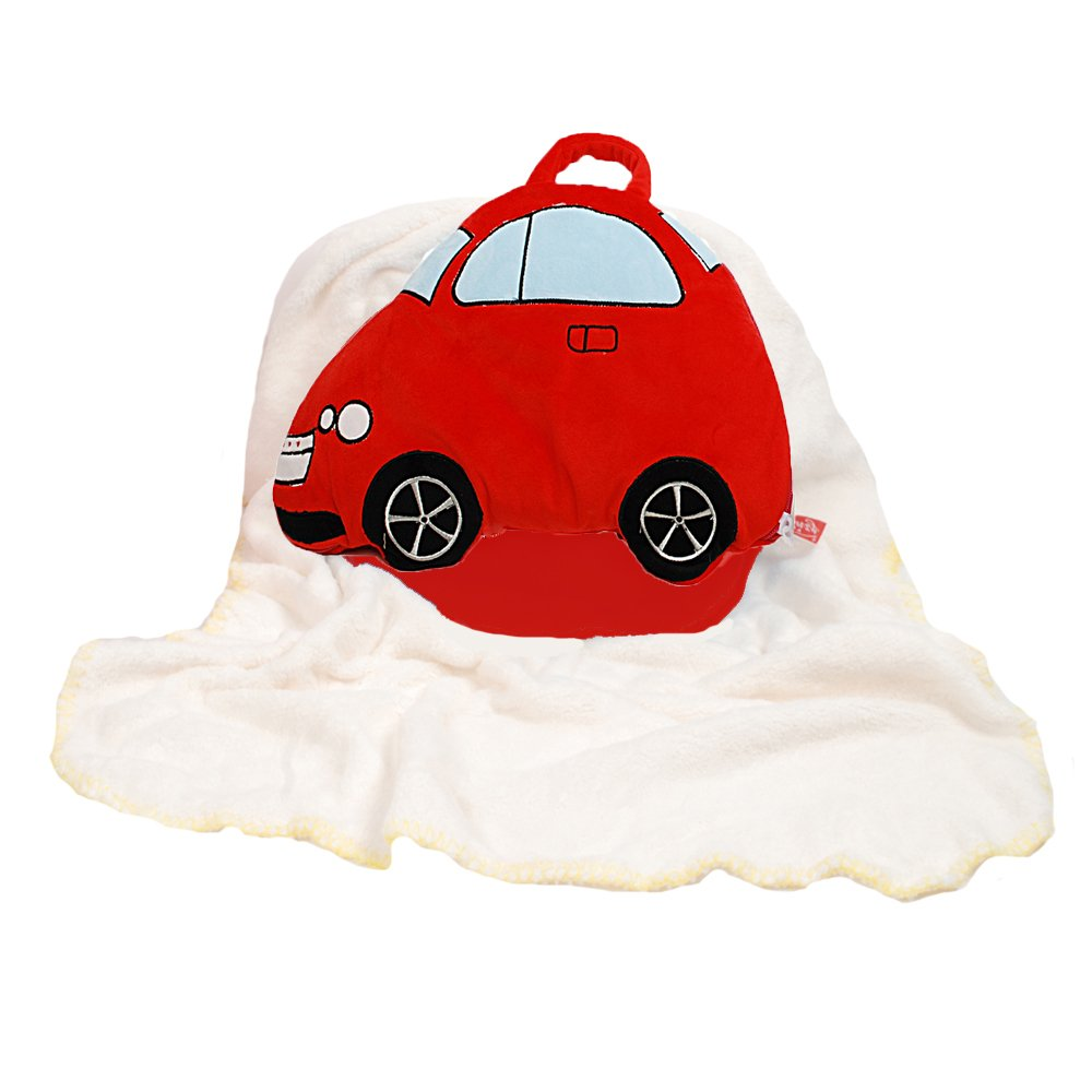Linzy Plush Take Along Car Baby Pillow Blanket Red 38 Red 38 L-11440-2
