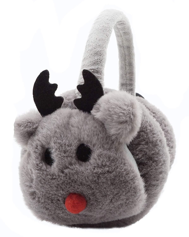 Lovful Kids Girls Cartoon Deer Warm Earmuffs Children Cute Winter Ear Warmers Adjustable Ear Cover Beige ELA18090049