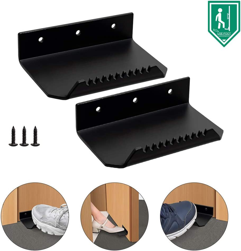 Foot Pedal Operation Doors,Hands Free Door Opener,A Product Suitable for Public Places. Silver
