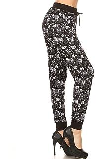 fe5a2191d2e0d Leggings Depot Premium Jogger Women's Popular Print and Solid High Waist  Track Yoga Full and Capri