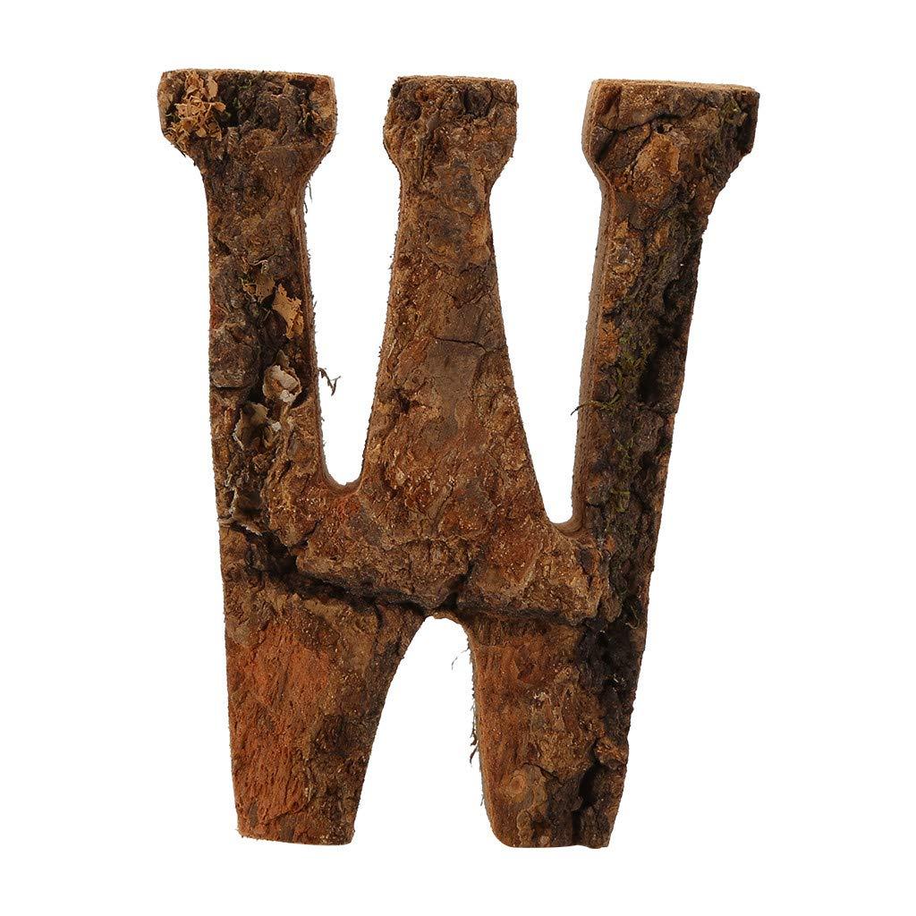 95mm DIY Wooden 26 Alphabet Letter Home Wedding Party Door Plaque Sign D