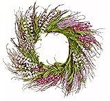 Worth Imports Twenty Inch Purple Flower Wreath