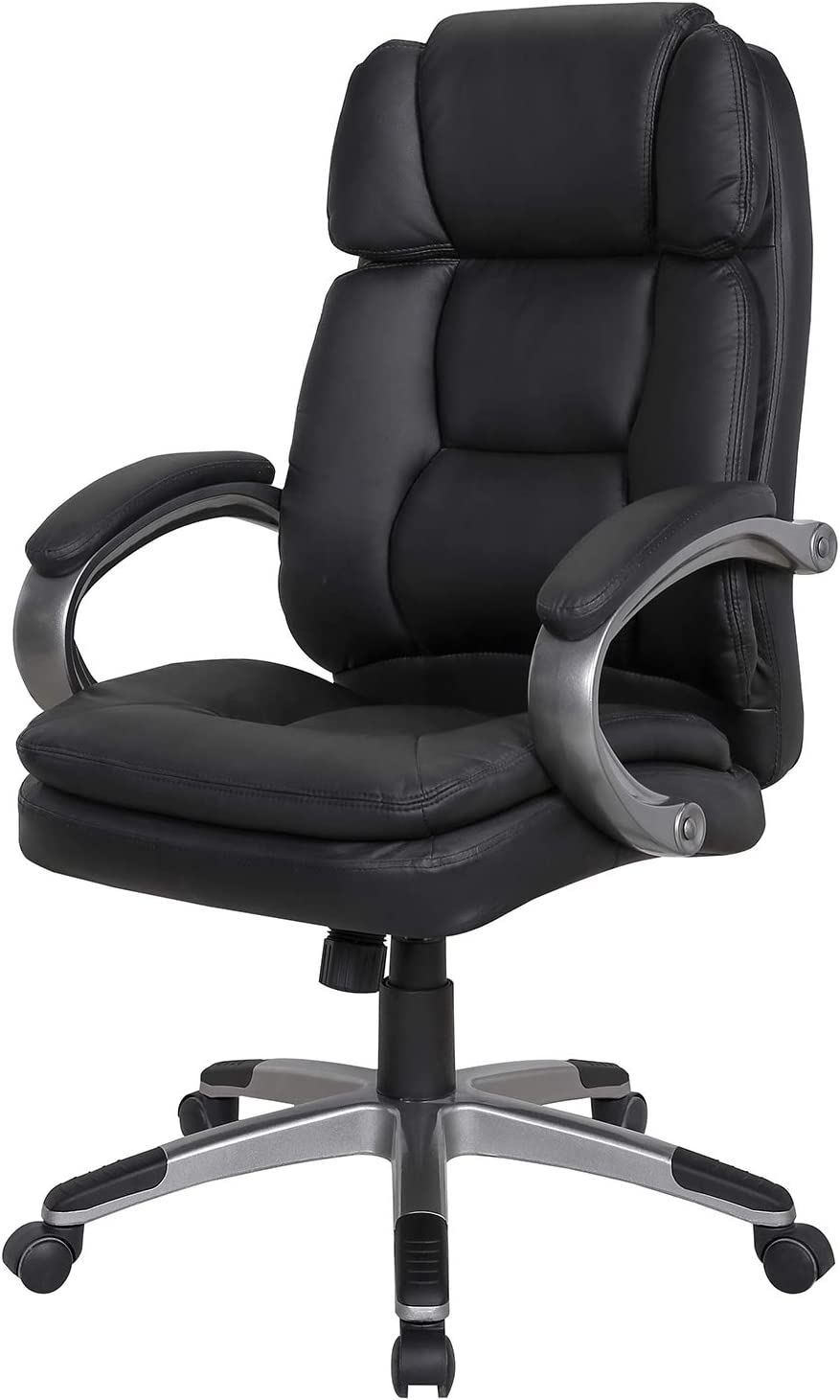 LCH High Back Leather Fabric Office Chair with Adjustable Tilt Angle – Computer Desk Chair with Thick Padding for Comfort and Ergonomic Design for Lumbar Support