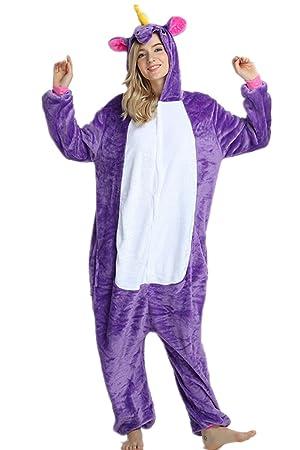 Kenmont Unisexo Adulto Pijama Juguetes y Juegos Traje Cosplay Animal Pyjamas Unicornio (Medium, Púrpura