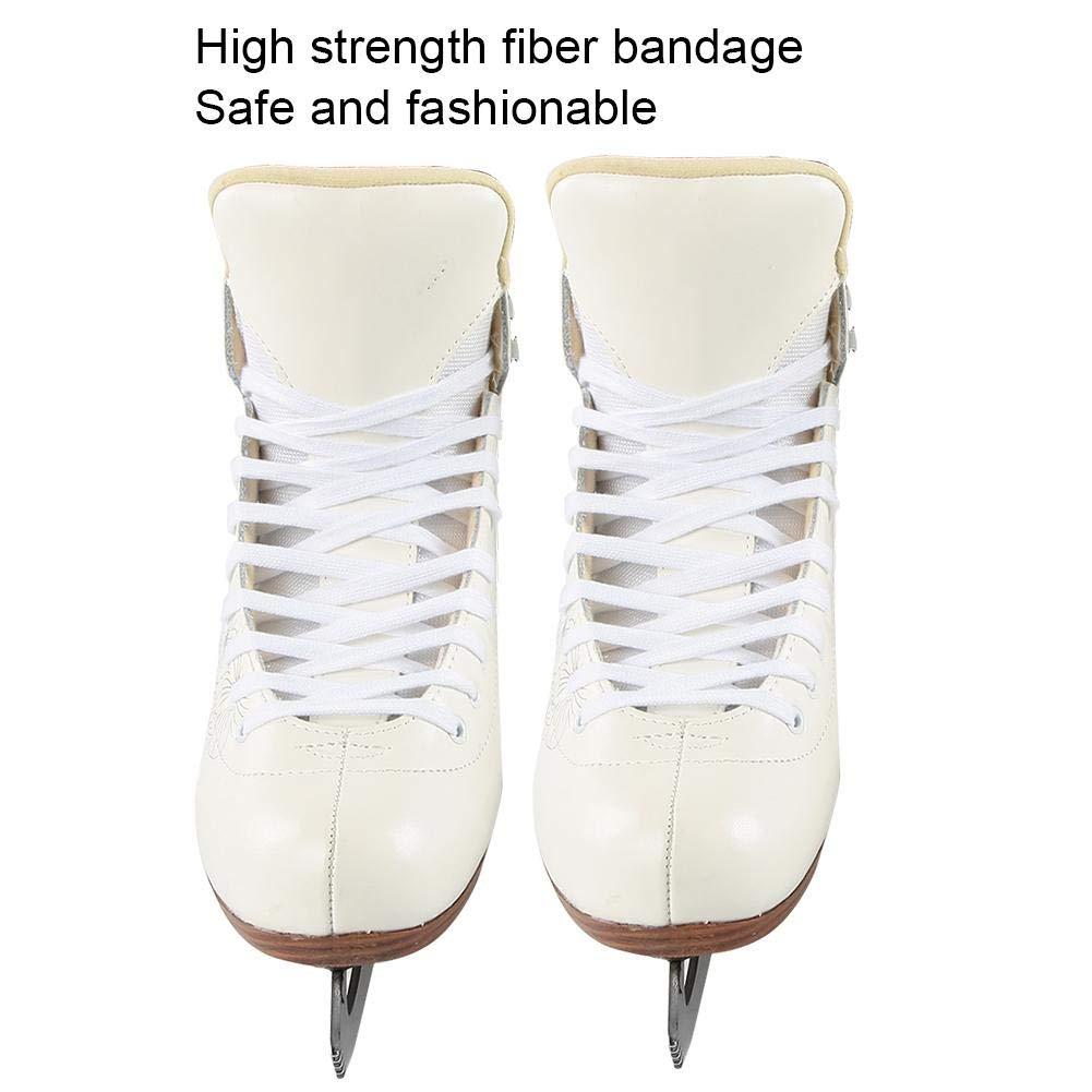 Patines de Hockey sobre Hielo Unisex Patines de Hielo de Cuero Artificial para Hombres Mujeres