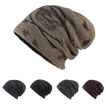 OVINEE Sombrero de Punto cálido de Terciopelo para Hombre y otoño e Invierno  Ciclismo a Prueba 5dc22964c36