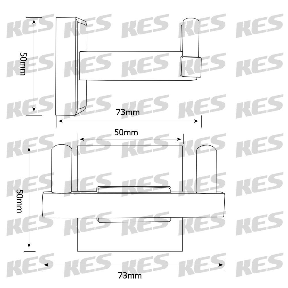 A2400-BK KES Toalleros de Barra para Ba/ño 23-Pulgadas Solo Toalla Bar SUS 304 Inoxidable Acero Matt Negro