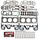 #2: Evergreen HSHB8-10401 Cylinder Head Gasket Set Head Bolt