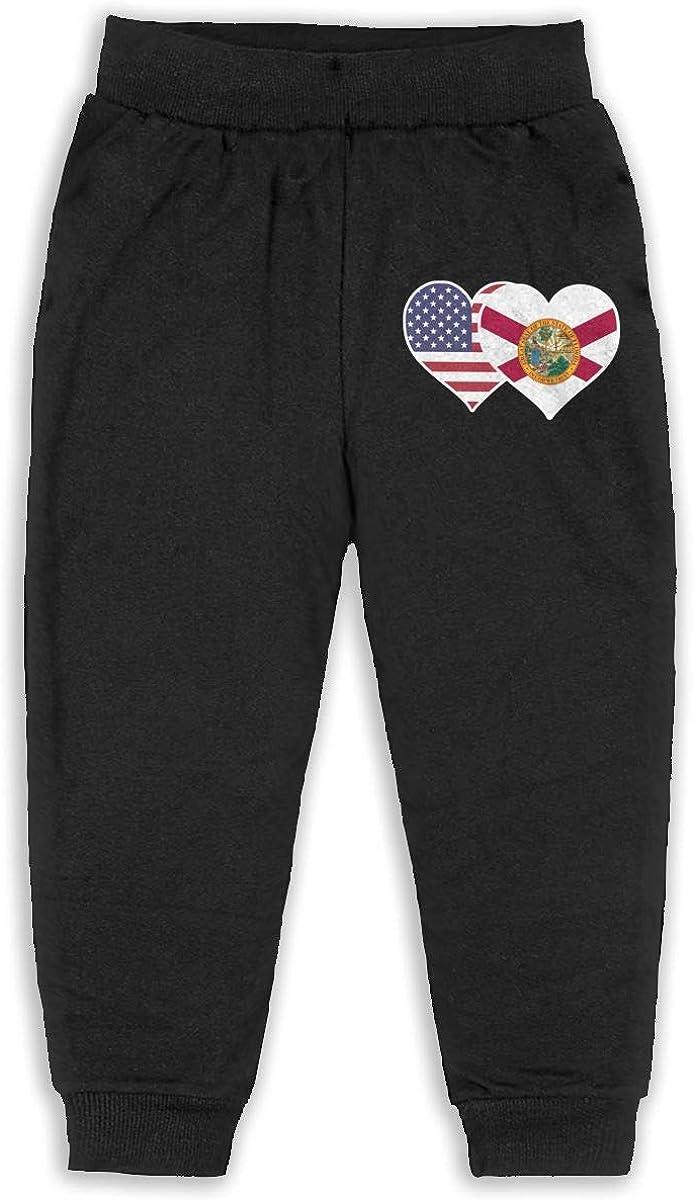 ELCW37K Kids /& Toddler Pants Soft Cozy Baby Sweatpants Brazil Flag Fleece Pants Training Pants