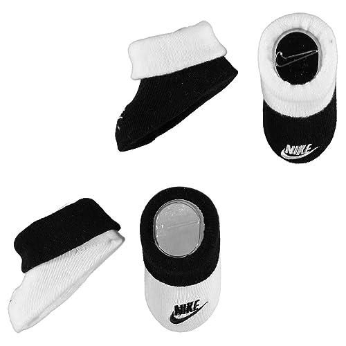 Nike - Patucos para niño Negro Negro/Blanco 0-6 meses