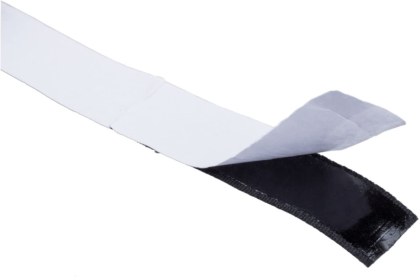 SNOWINSPRING Bande Ruban Scratch Hook Loop Autocollante 200cm Noir