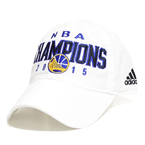lowest price 1649a f3d37 adidas Golden State Warriors 2015 NBA Champions Flex Fit Hat (White Slouch  Flex, L