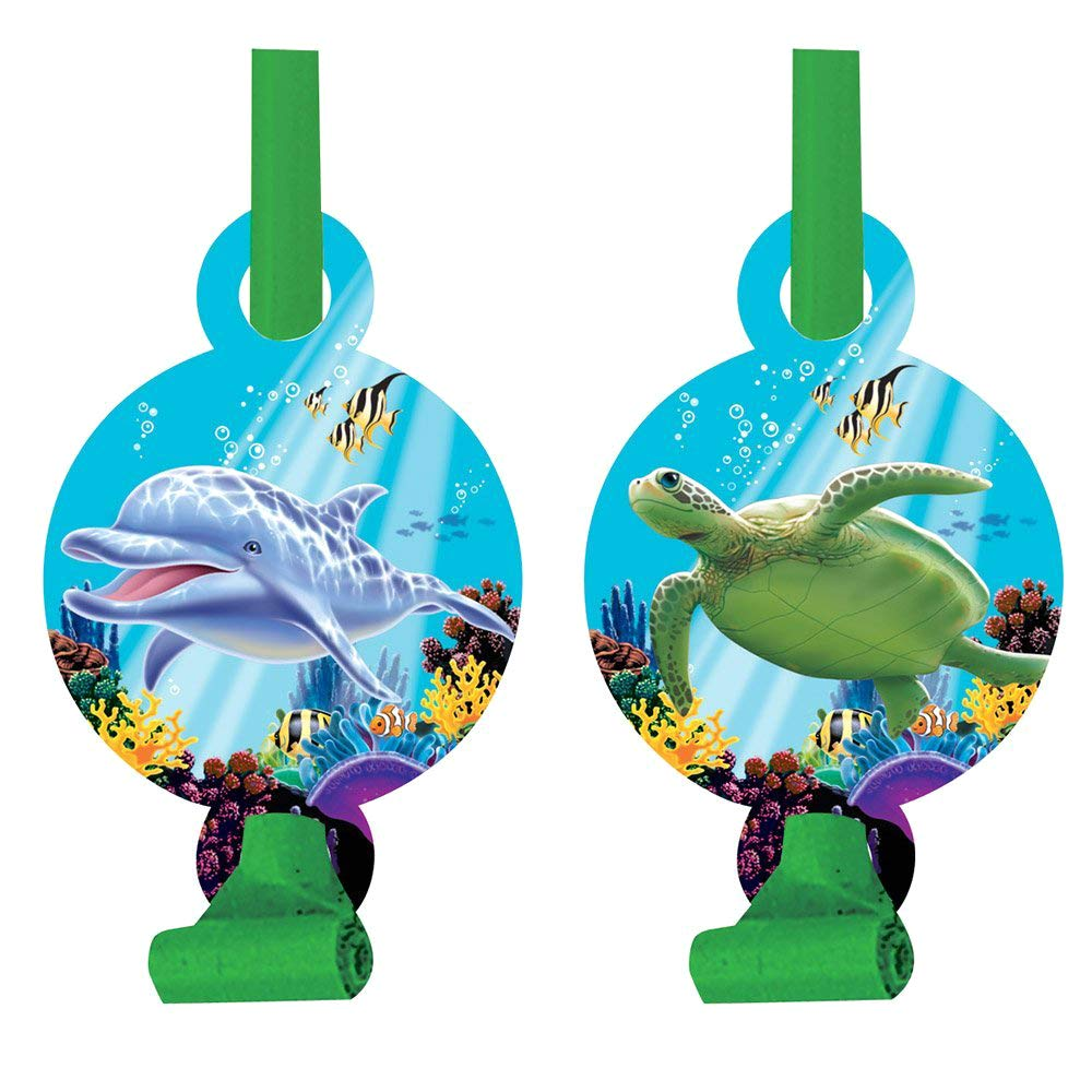 Creative Converting 8-Count Party Favor Blowouts Mermaid Friends