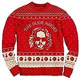 The Big Lebowski The Dude Abides Ugly Christmas Sweater (Medium)