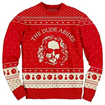 The Big Lebowski The Dude Abides Ugly Christmas Sweater (Small)