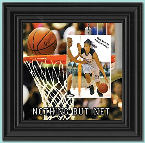 Basketball Picture frame, Great Team Gift Ideas or Gifts for Coaches Basketball, 10X10 9712B (Gifts For Senior Night Basketball)