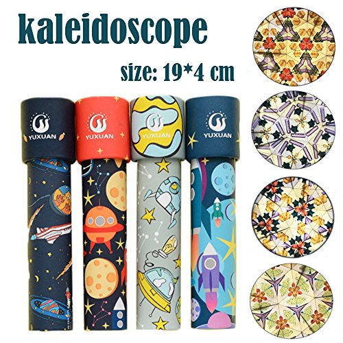 Volity 4Pack Kaleidoscope, Magic Classic Tin Kaleidoscope Rotatiing Fancy Educational Toys for Kids Children Party Favors Birthday Gift (1/4Pack) (C(4Pack))