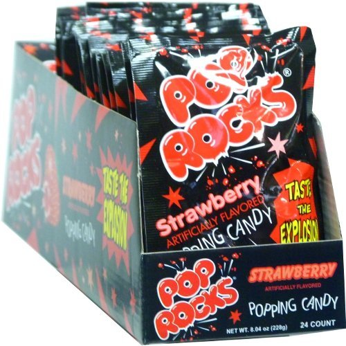 Pop Rocks Strawberry 0.33 oz Each (Pack of 24)]()
