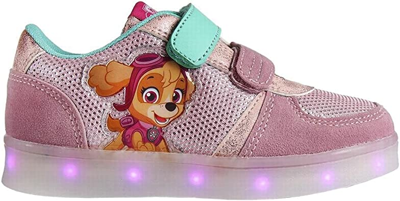Zapatillas Deportivas Con Luz Y Velcro Skye Patrulla Canina Talla 30 Amazon Es Zapatos Y Complementos