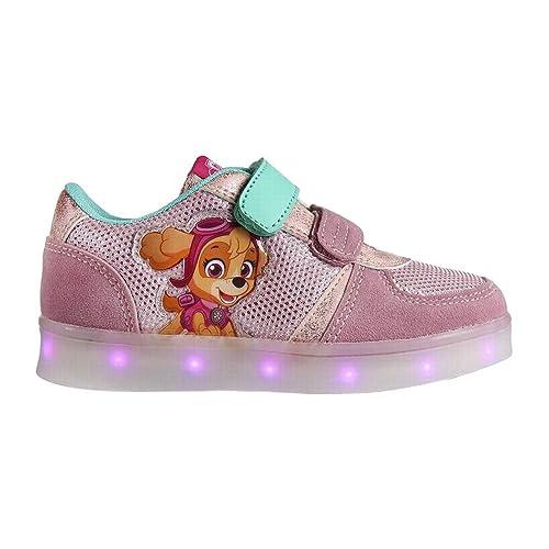 Zapatillas deportivas con luz y velcro Skye Patrulla Canina Talla 28: Amazon.es: Zapatos y complementos