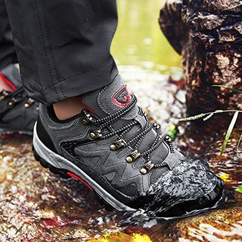 メンズトレッキング シューズ 登山靴 メッシュ レースアップ 防撞 防滑 つま先保護 耐磨耗 遠足 アウトドア キャンプ 通気性 衝撃吸収 夏 厚い底ハイキング スニーカー 屈曲性 ウォーキングシューズ