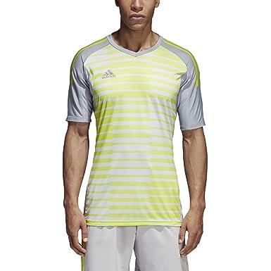adidas AdiPro 18 Goalkeeping Jersey Short Sleeve (Small) Light  Grey Grey Solar 626eac1a7