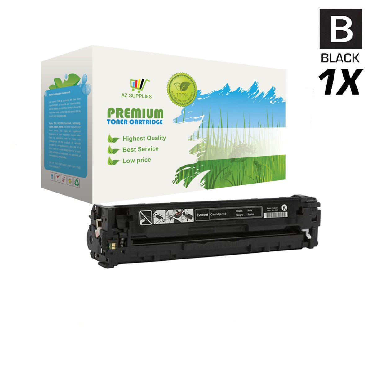 AZ Supplies Toner | 30% more Print Yield | replace for HP 128A CE320A Black for use in HP Color Laserjet CM1415fn, CM1415fnw, CP1525n, CP1525nw, Pro CM1415fn, Pro CP1525nw