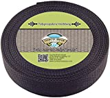 Country Brook Design 1 1/2 Inch Black Polypro Webbing, 700 Yards
