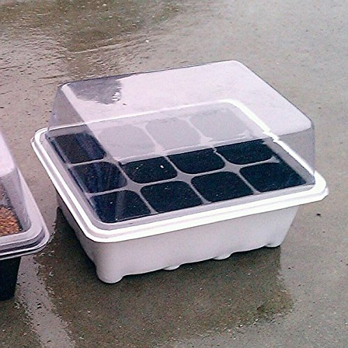 Roto - Nursery Trays & Lids 12 Holes Seedling Tray Sprout Plate