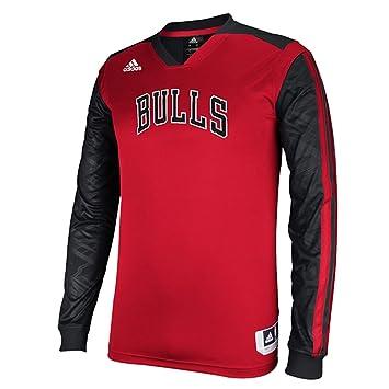 Amazon.com: Chicago Bulls Adidas 2013 rojo en corte de manga ...