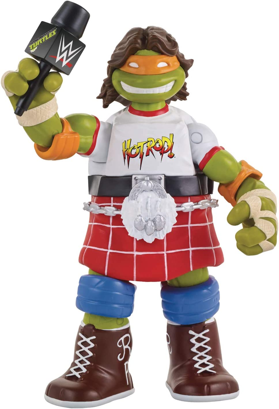 Teenage Mutant Ninja Turtles Ninja Super Stars: Michelangelo As Rowdy Roddy Piper Action Figure
