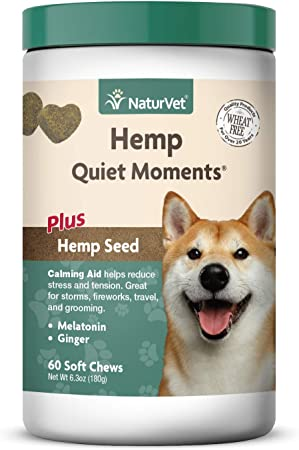 NaturVet Quiet Moments Calming Aid Dog Supplement - Best For Car Travel