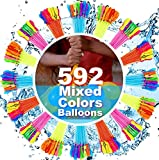 FEECHAGIER Water Balloons for Kids Girls Boys Balloons Set Party Games Quick Fill 592 Balloons for Swimming Pool Outdoor Summer Funs NH10